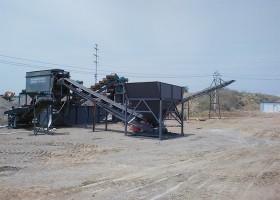 日产2000吨石粉洗砂机工作现场