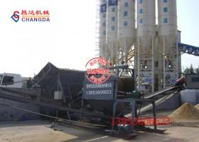 交通建设沪宁城际筛砂机工作现场