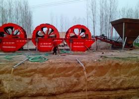 日产1500吨石粉洗砂机生产线
