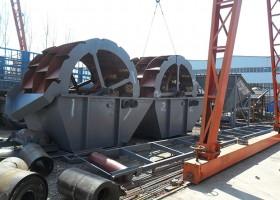 日产1000吨石粉洗砂机装货现场