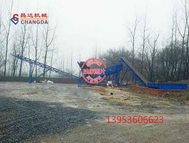 大型分级振动筛式洗石机(日产3000吨)工作现场
