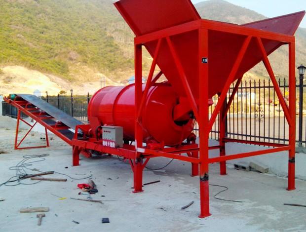 滚筒式洗石机标准型工作现场