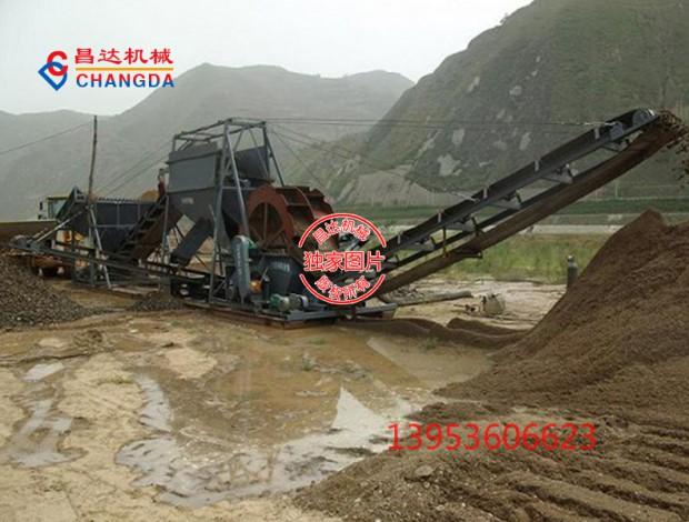 砂石料场专用洗砂机工作现场